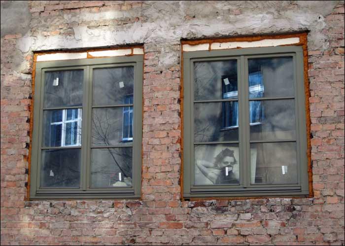 foto: Katowice, okna, twarz
