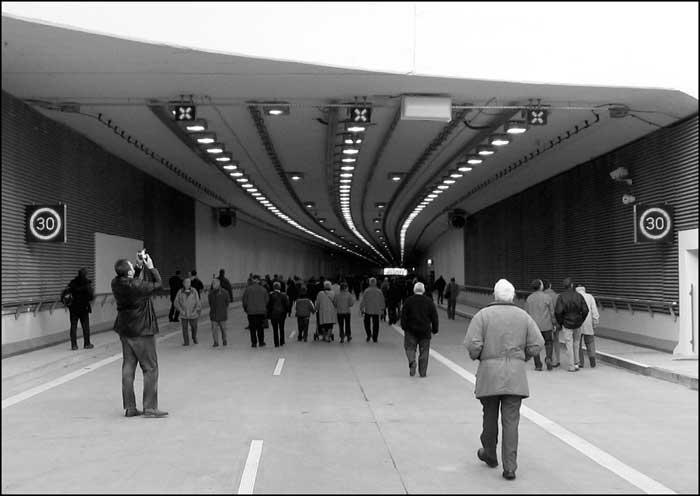 foto: Katowice, rondo, spodek, tunel