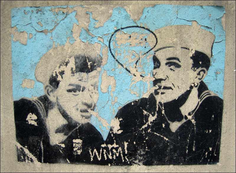 warszawa, marynarze, graffiti