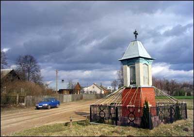 foto: kapliczka, Długosiodlo, Puszcza Biała