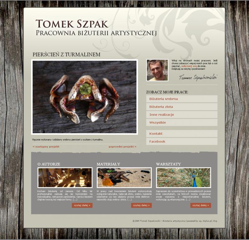 Pracownia biżuterii artystycznej tomka szpakowskiego, www.tomekszpak.pl