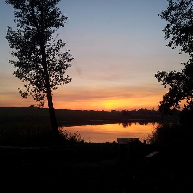 mazury, jesień, zimny kąt, zachód słońca