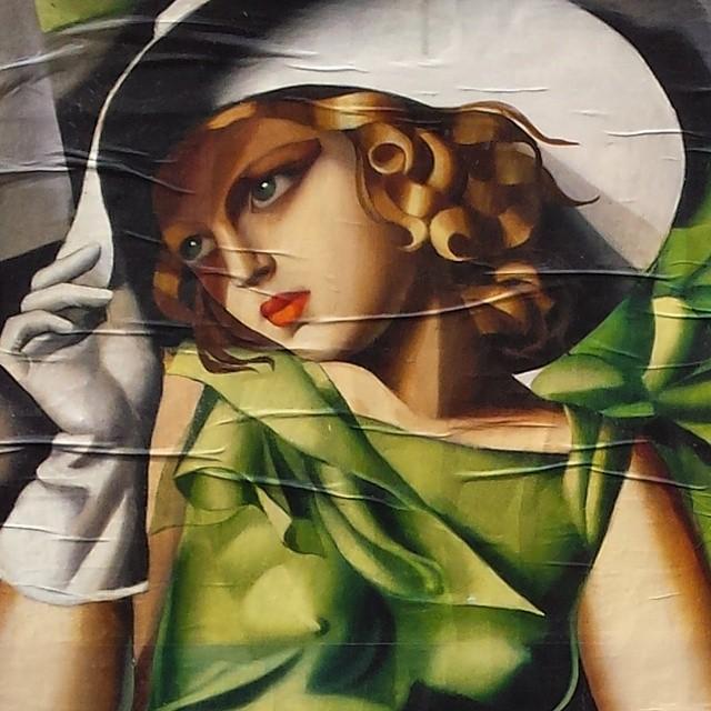 tamara, plakat, mediolan, kobieta, bella donna