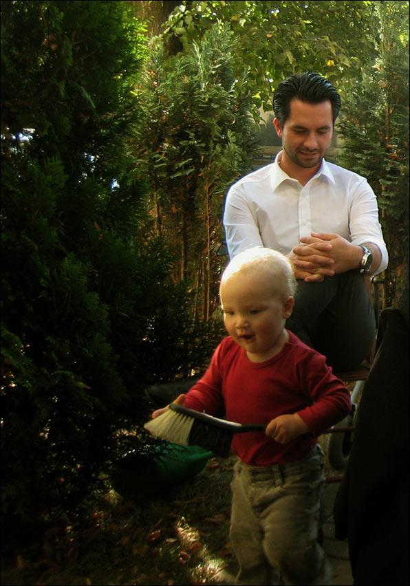 na ogródku z wujkiem