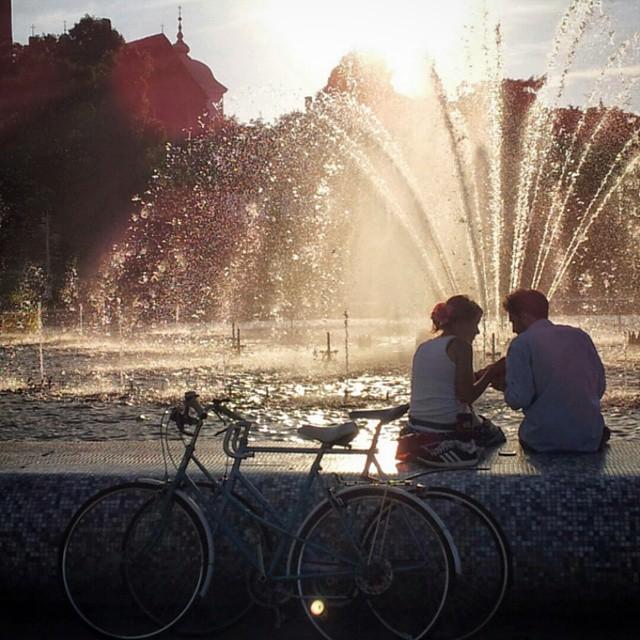 Warszawa, fontanna