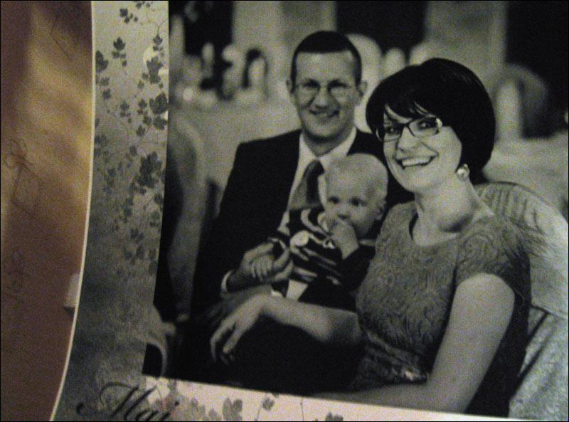 zdjęcie, album, ślub, rodzina