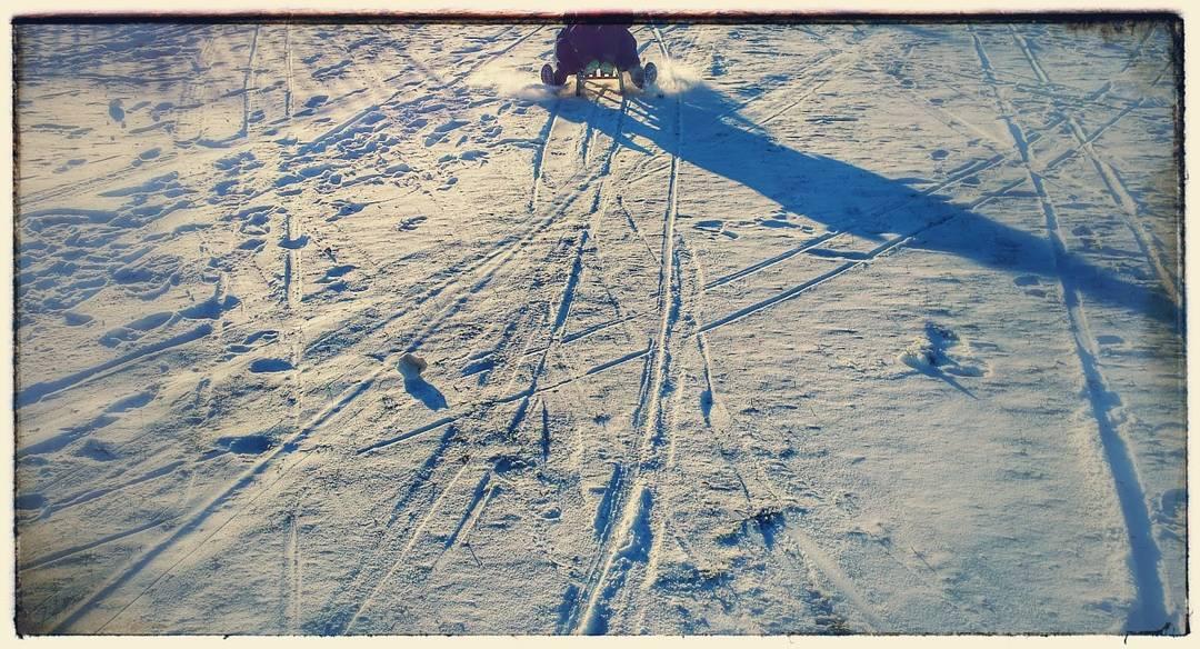 sanki, śnieg, grochów