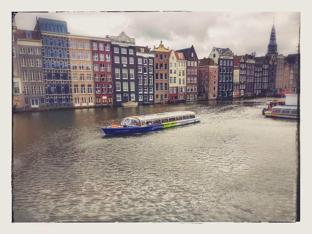 kanał, amsterdam, barka