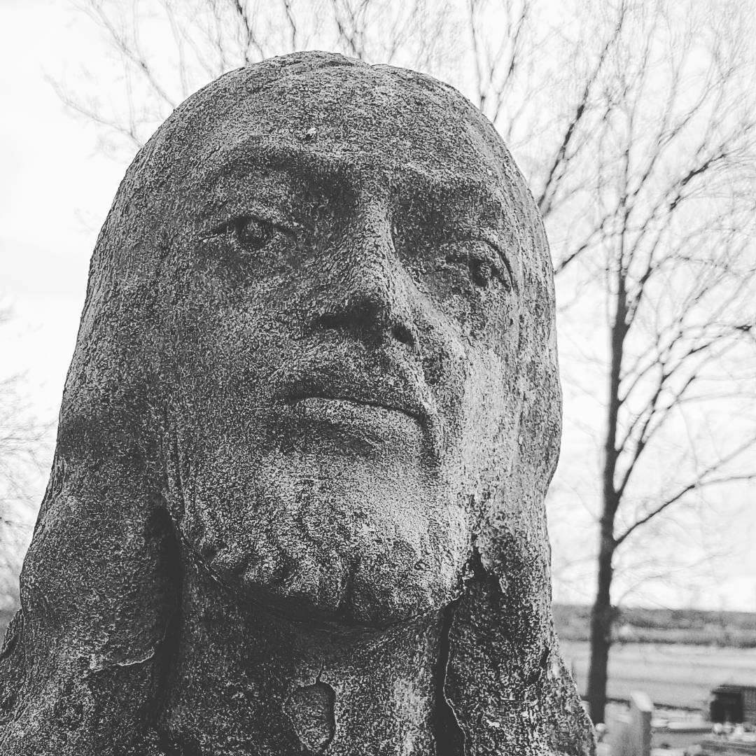 człowiek, jezus, rzeźba, twarz