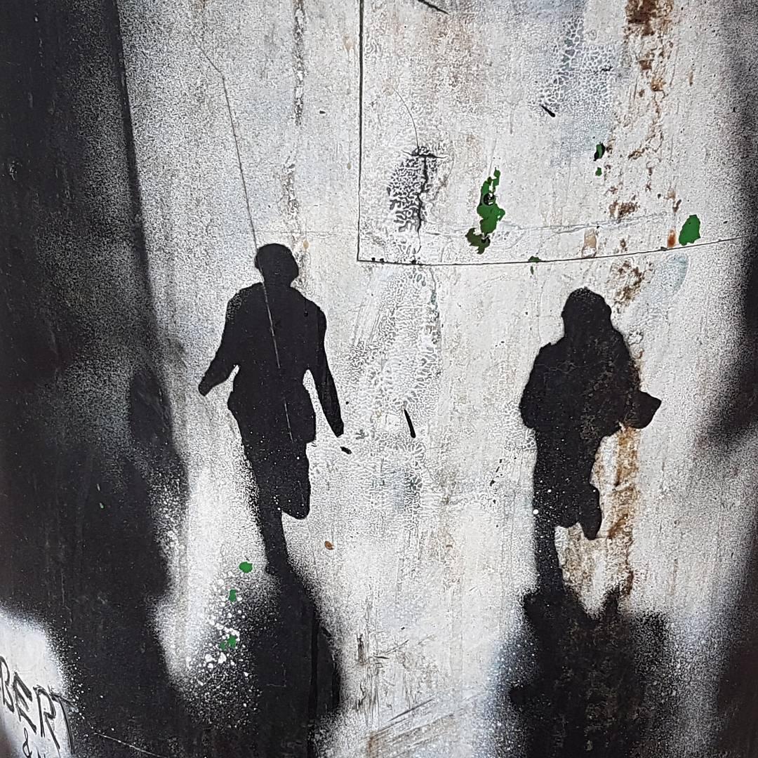 graffiti, para, ludzie