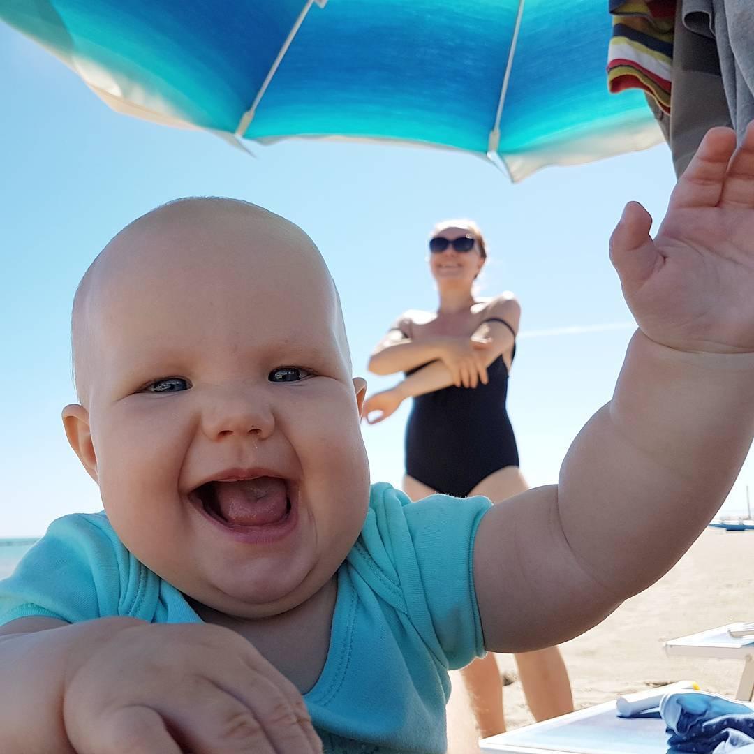 italia, plaża, dziecko, villarosa, martinsicuro