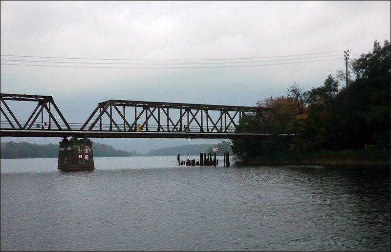 mazury, mikołajki, jesień, most