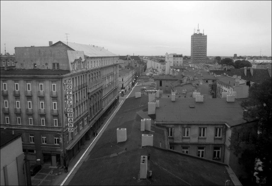 Łódź, Hotel Savoy, widok z okna