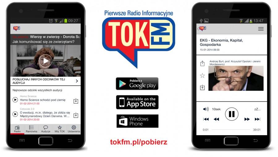 """Aplikacja mobilna """"TOK FM"""""""