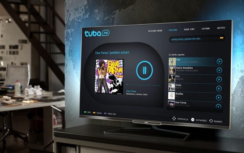 Tuba.FM na telewizorze Philips Smart TV