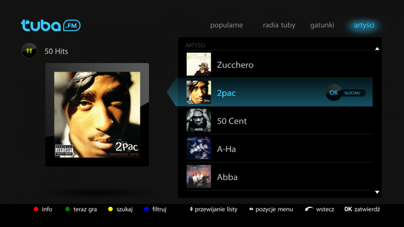 Tuba.FM na dekodery Netia Player