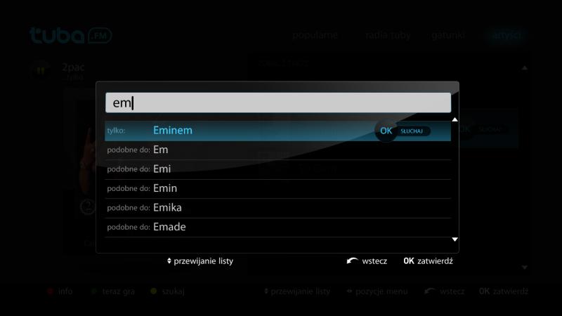 Tuba.FM na dekoder Netia Player