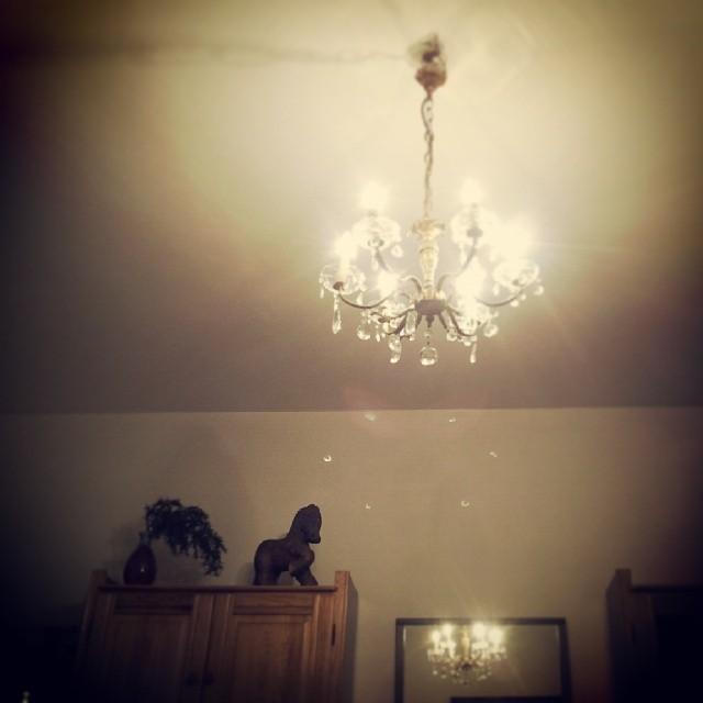 żyrandol, lampa, drewniany koń