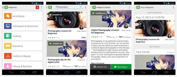 Google Helpouts - aplikacja na telefony Android