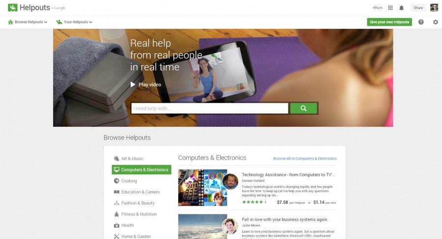 Google Helpouts - strona główna