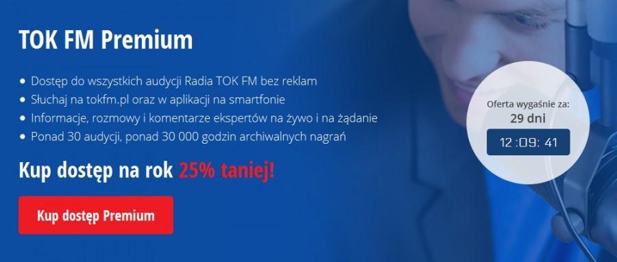 TOK FM Premium, promocja pakietów rocznych