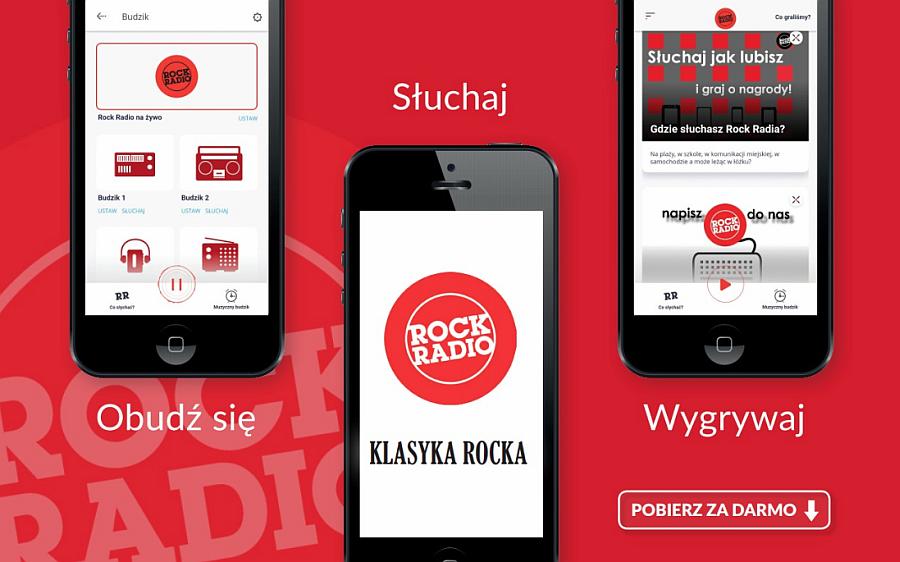 aplikacja mobilna Rock Radio