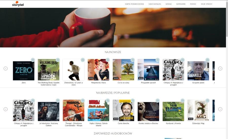 storytel.pl - screen strony głównej