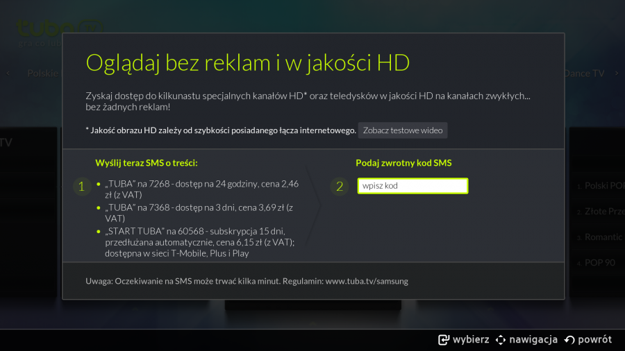 Tuba.TV w Samsung Smart TV