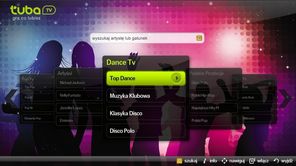 Aplikacja Tuba.TV w Samsung Smart TV, aplikacje telewizyjne, telewizja muzyczna