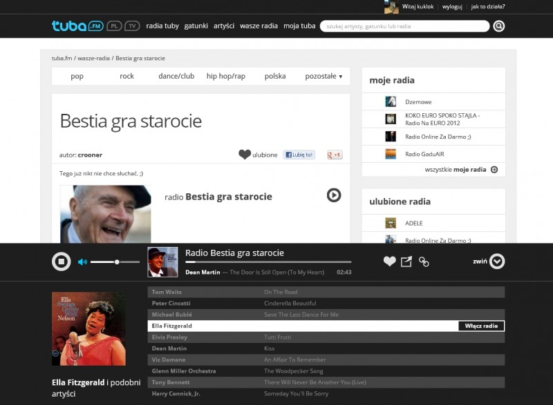 tuba.fm - radia internetowe i radii online: blues, rock, disco, pop, dance i club, jazz, reggae, soul, r nb