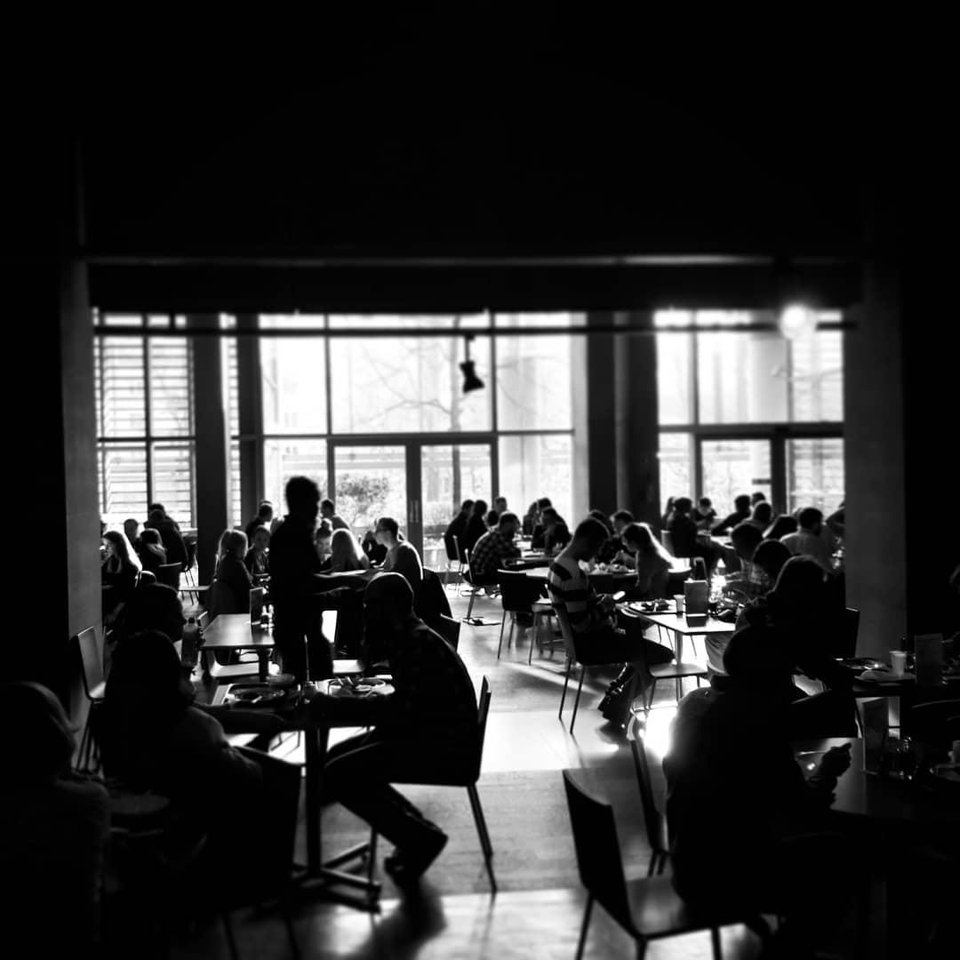 #walentynki w #agora . . . #b&w #stołówka #obiad #dzieńjakcodzień
